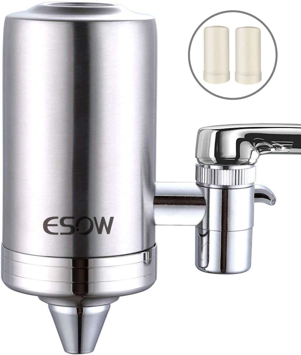 ESOW Faucet Mount Water Filter, SUS304