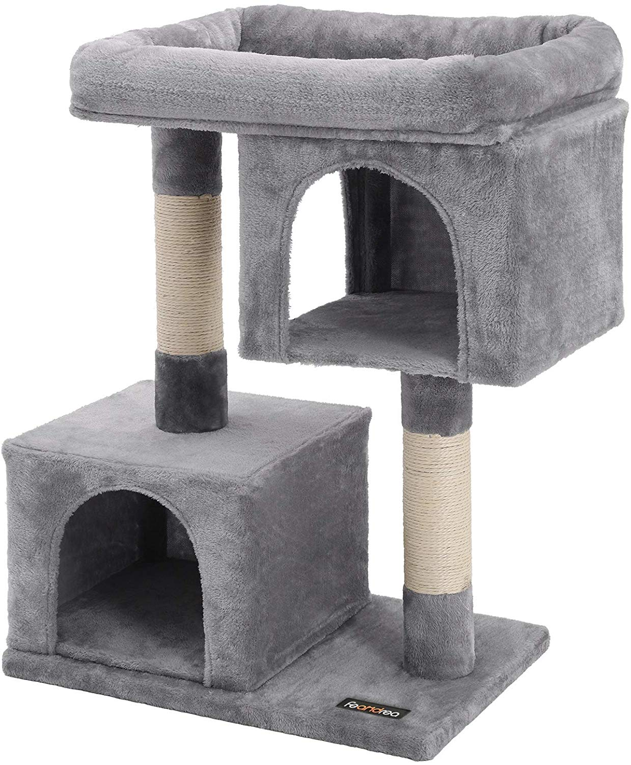 FEANDREA Plush Condo Cat Tree House