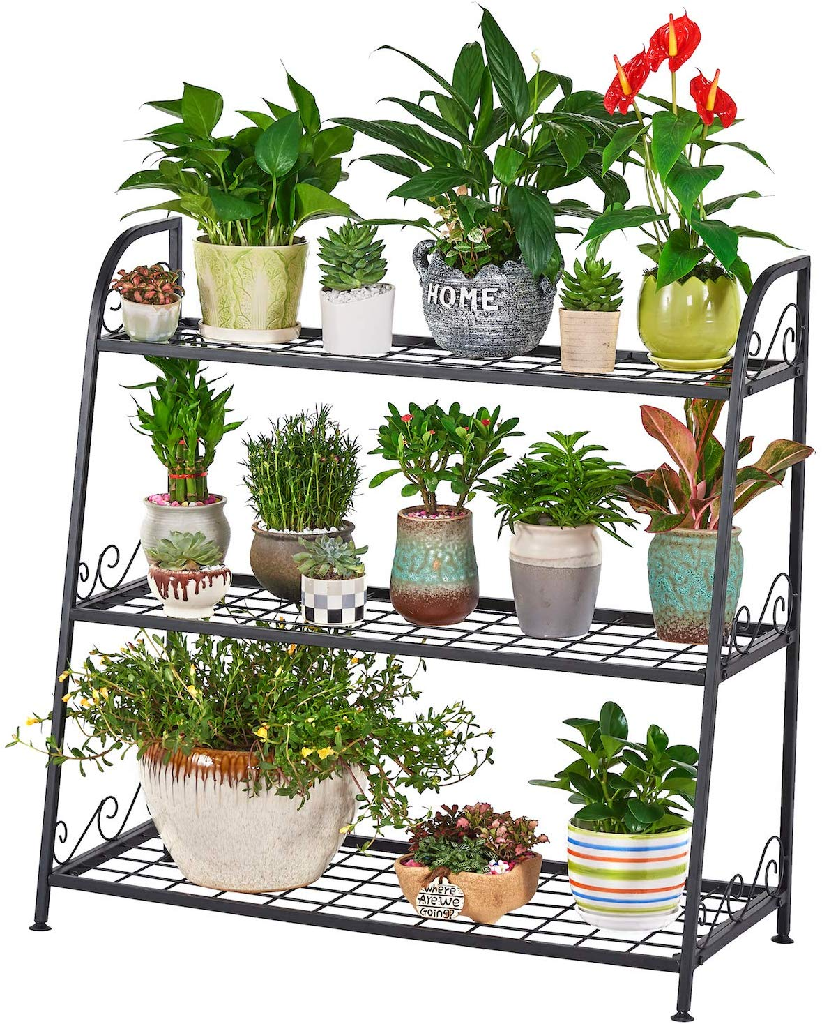 FaithLand 3-Tier Metal Plant Stand