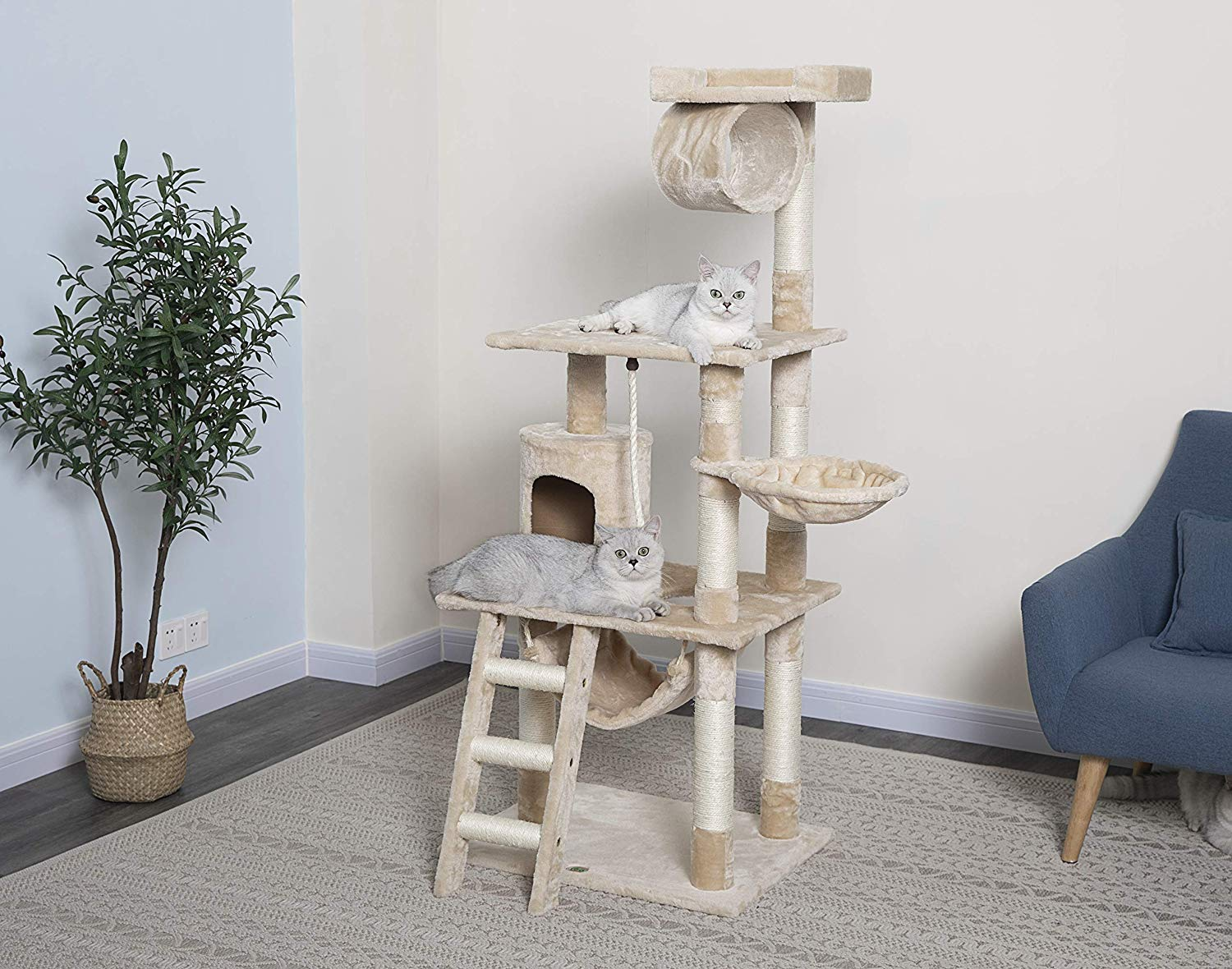 Go Pet Club Cat Tree 62 inches