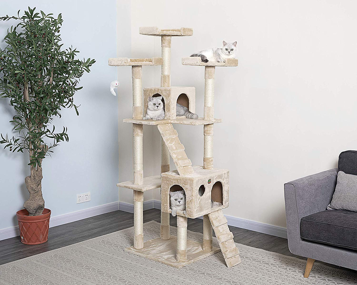 Go Pet Club Cat Tree 72 inches
