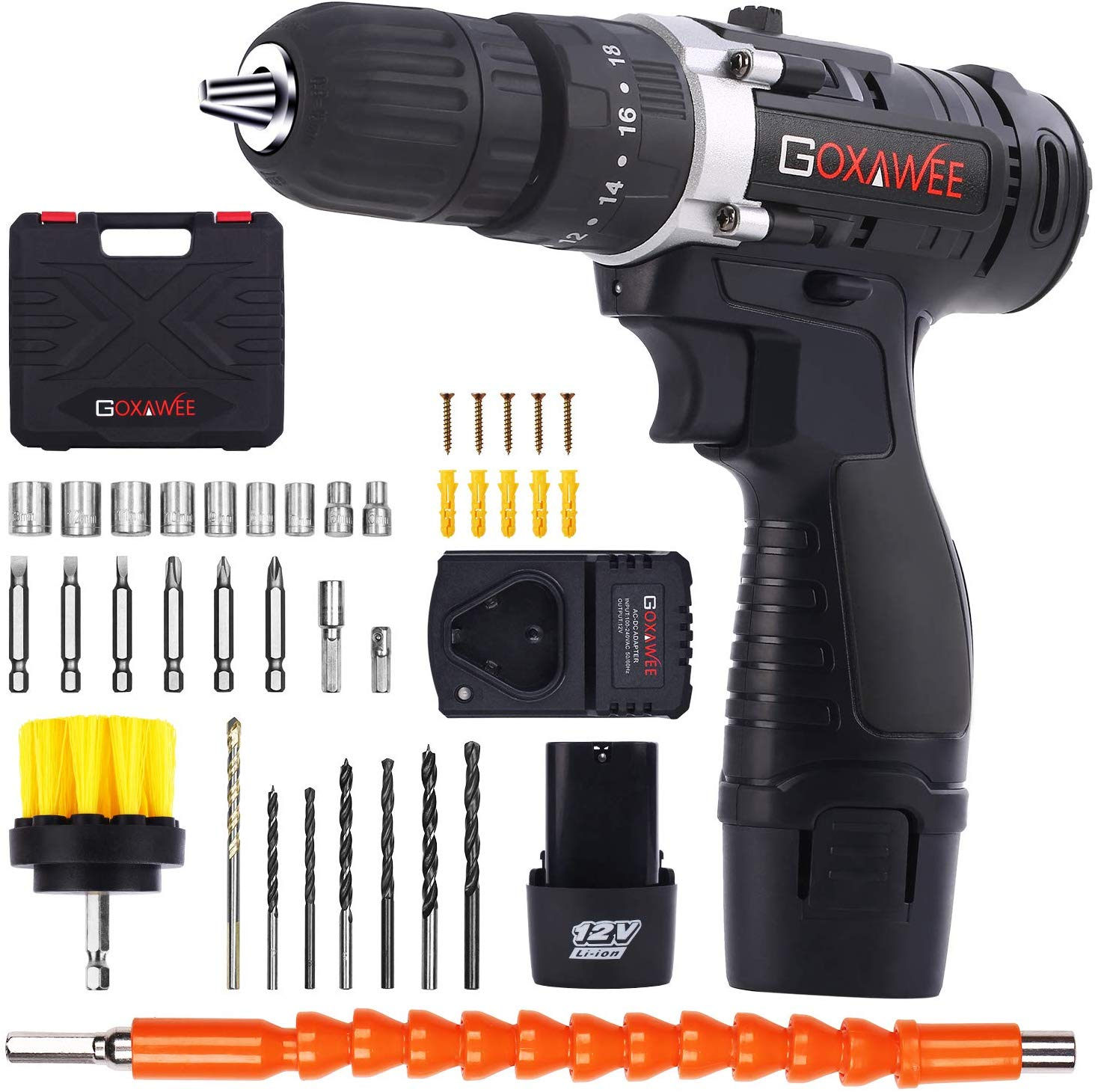 Goxawee cordless drill