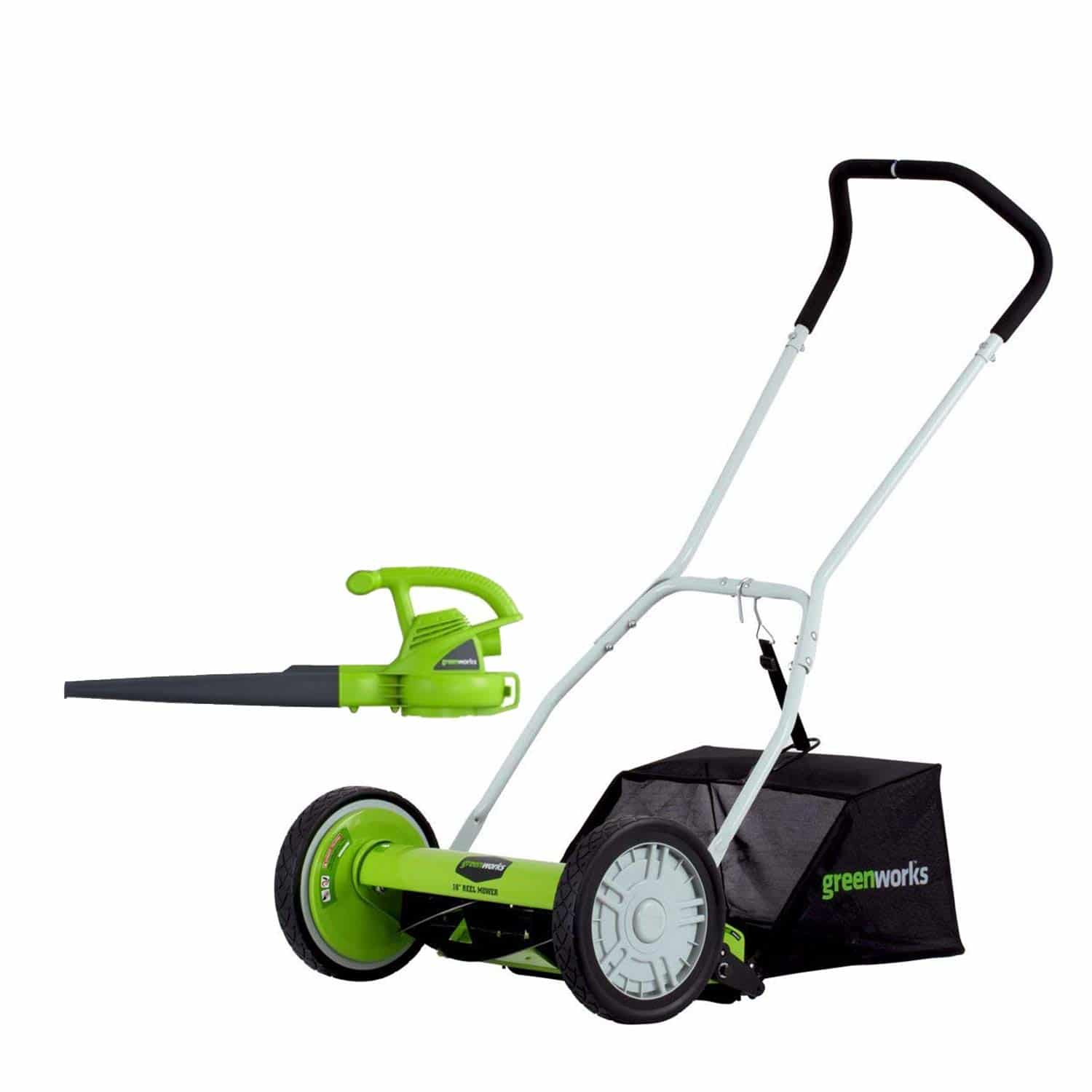 Green Works 16-Inch Reel Lawn Mower