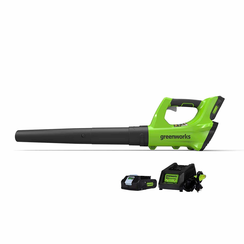 Green works Cordless Jet Leaf Blower