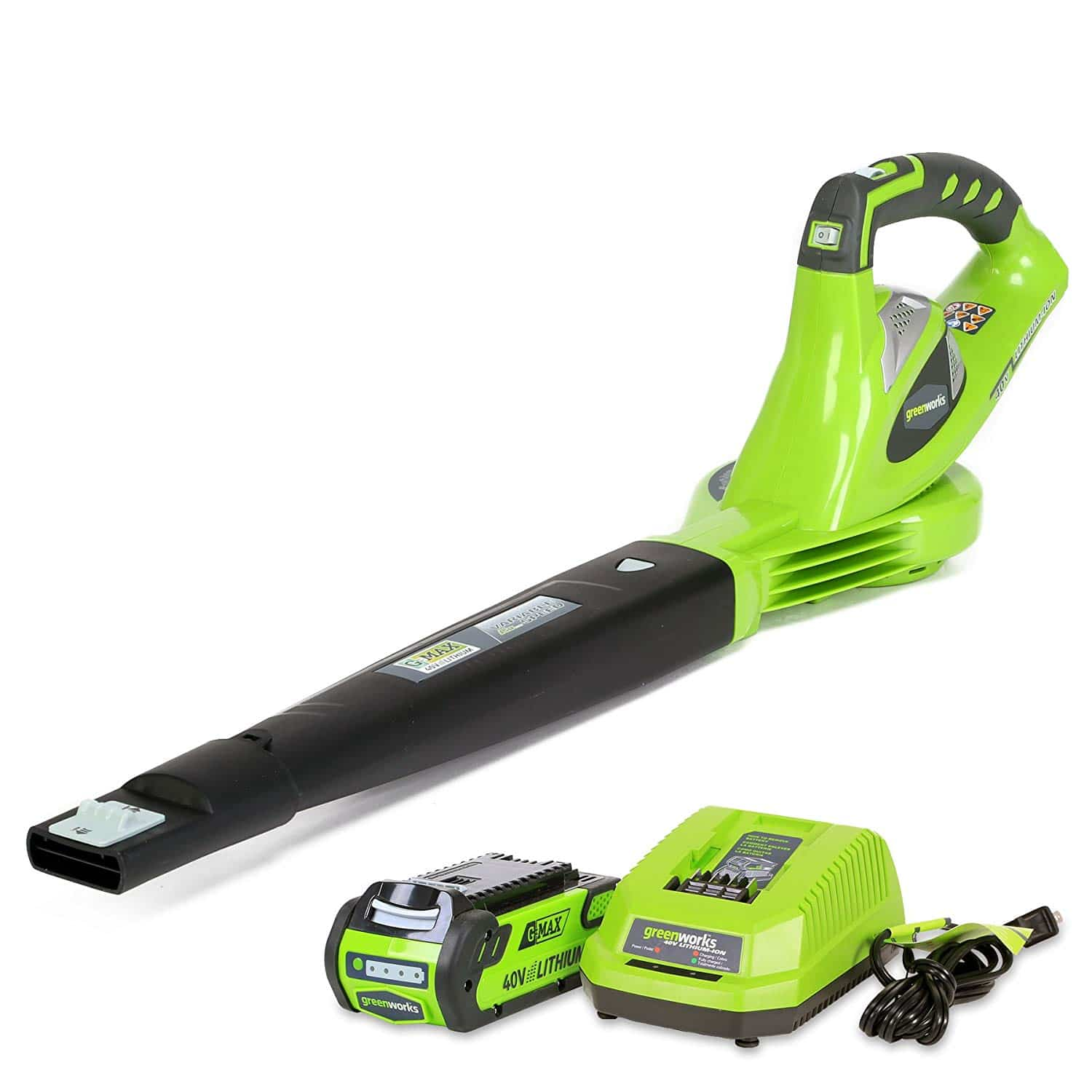 Green works Variable Speed Cordless Leaf Blower
