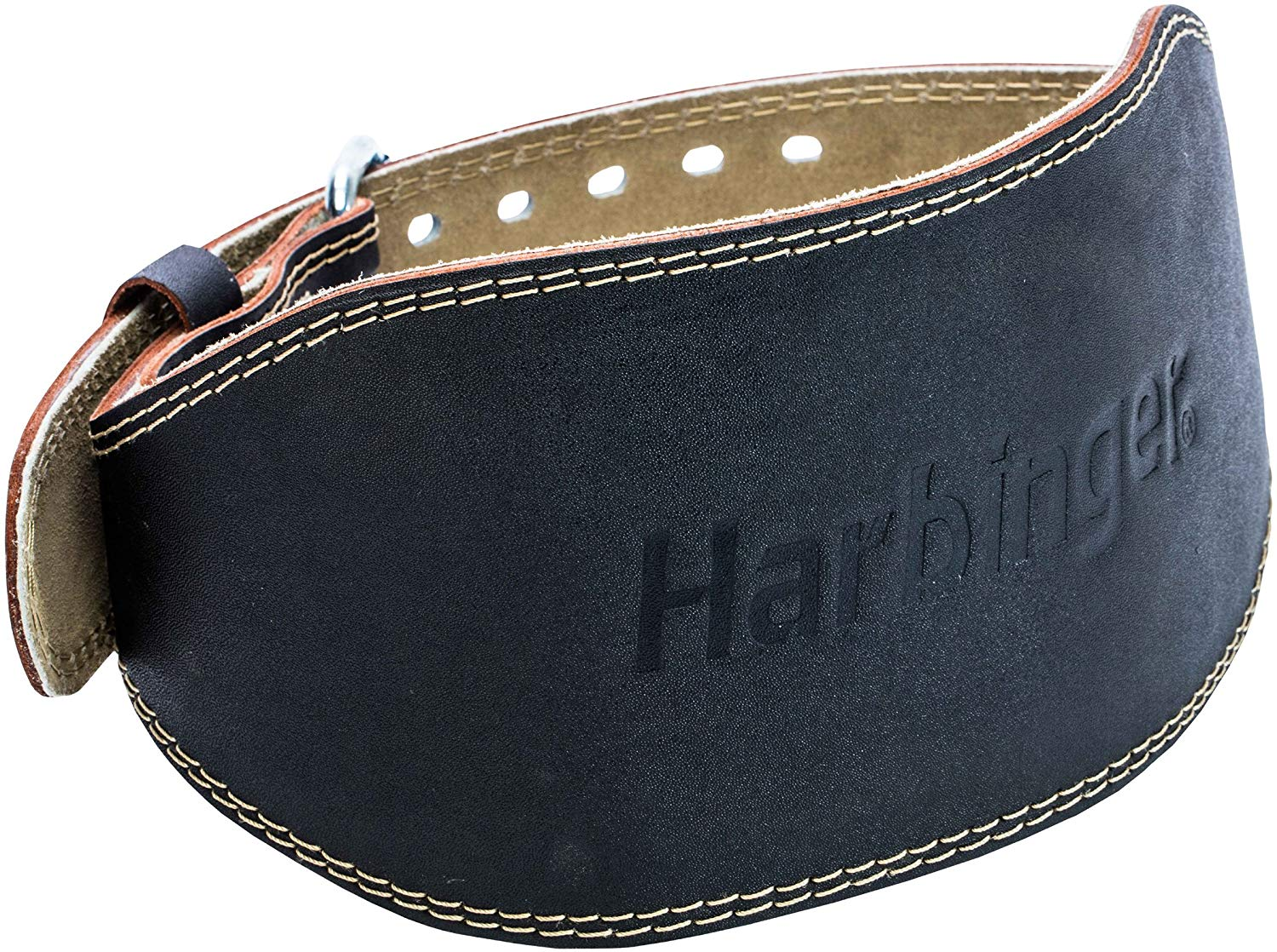 Harbinger Padded Leather Suede Lining Weightlifting Belt