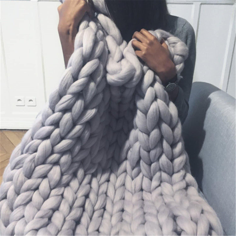 HomeModa Studio Chunky Knit Throw Blanket