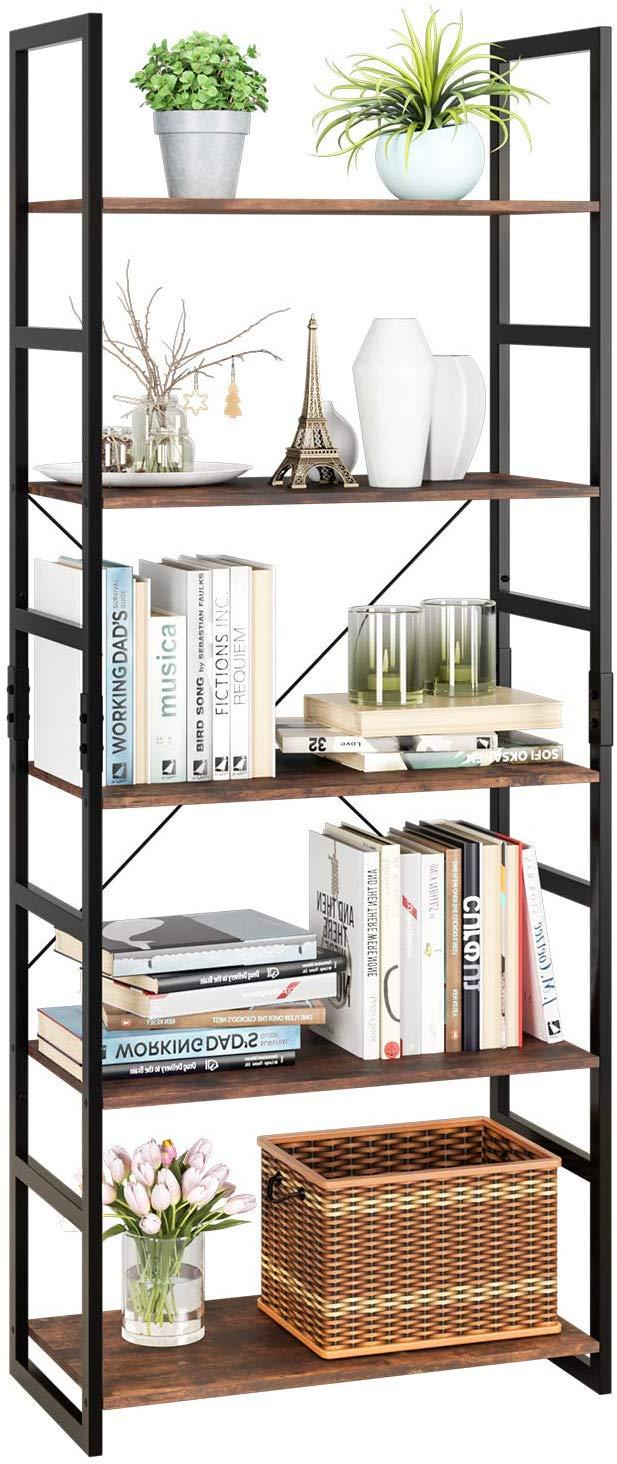 Homfa Bookshelf Rack