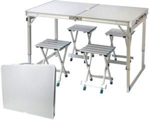 IBEQUEM Folding Picnic Table