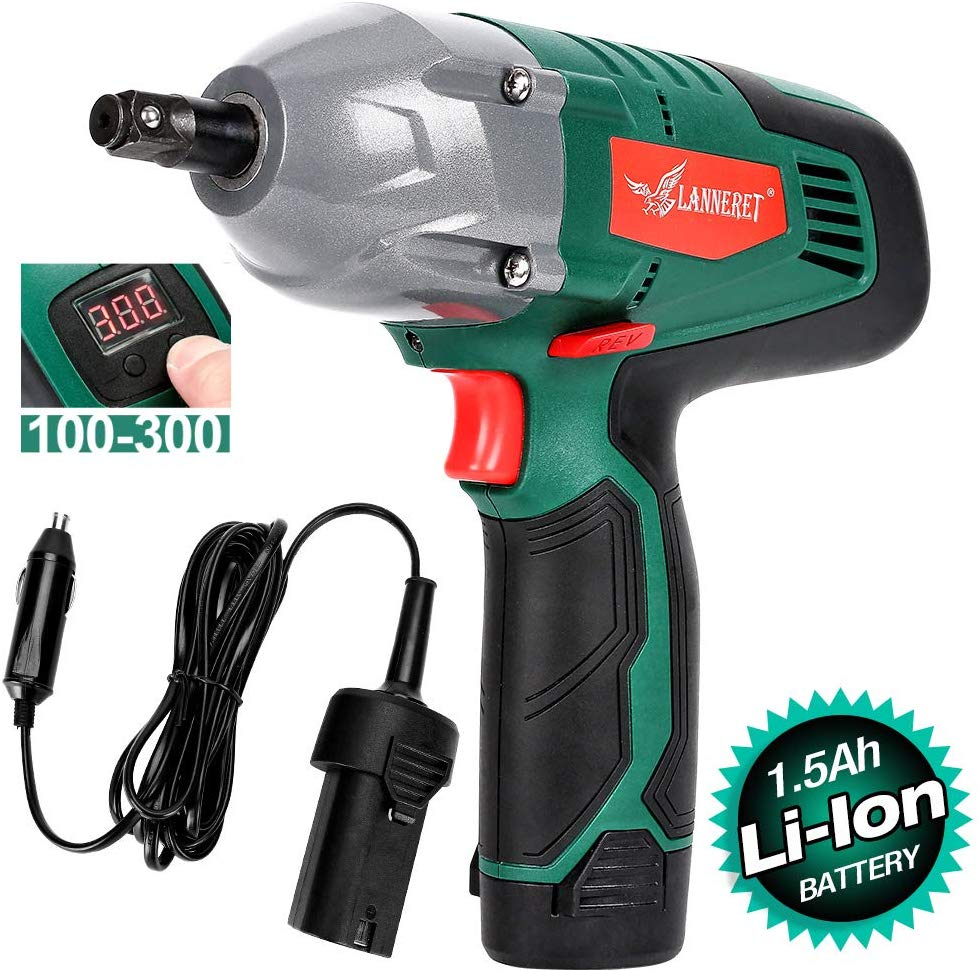 LANNERET Cordless Electric Impact Wrench
