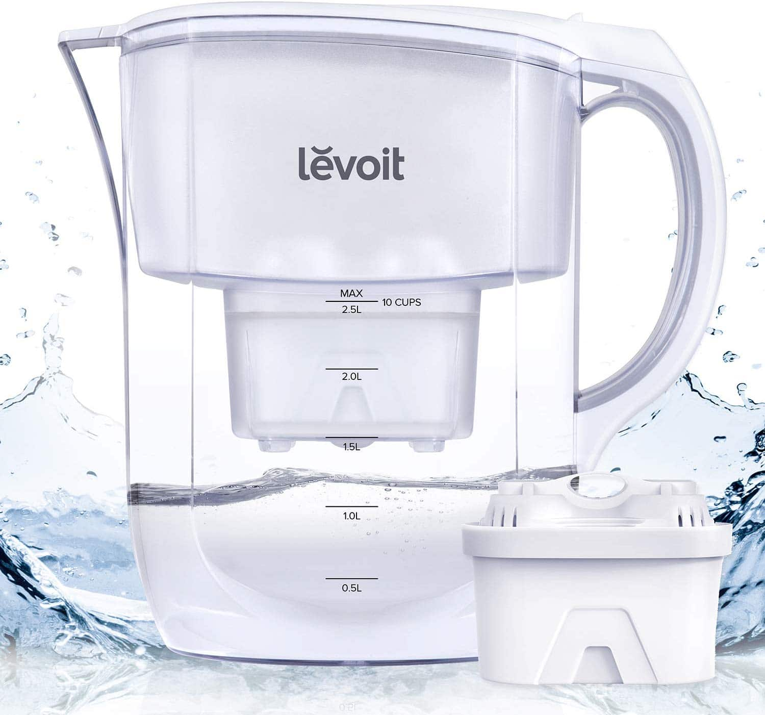 LEVOIT Water Filter Pitcher
