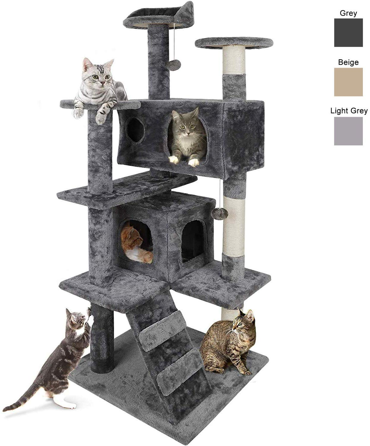 Nova Microdermabrasion Multi-level 53 Inches Cat Tree House