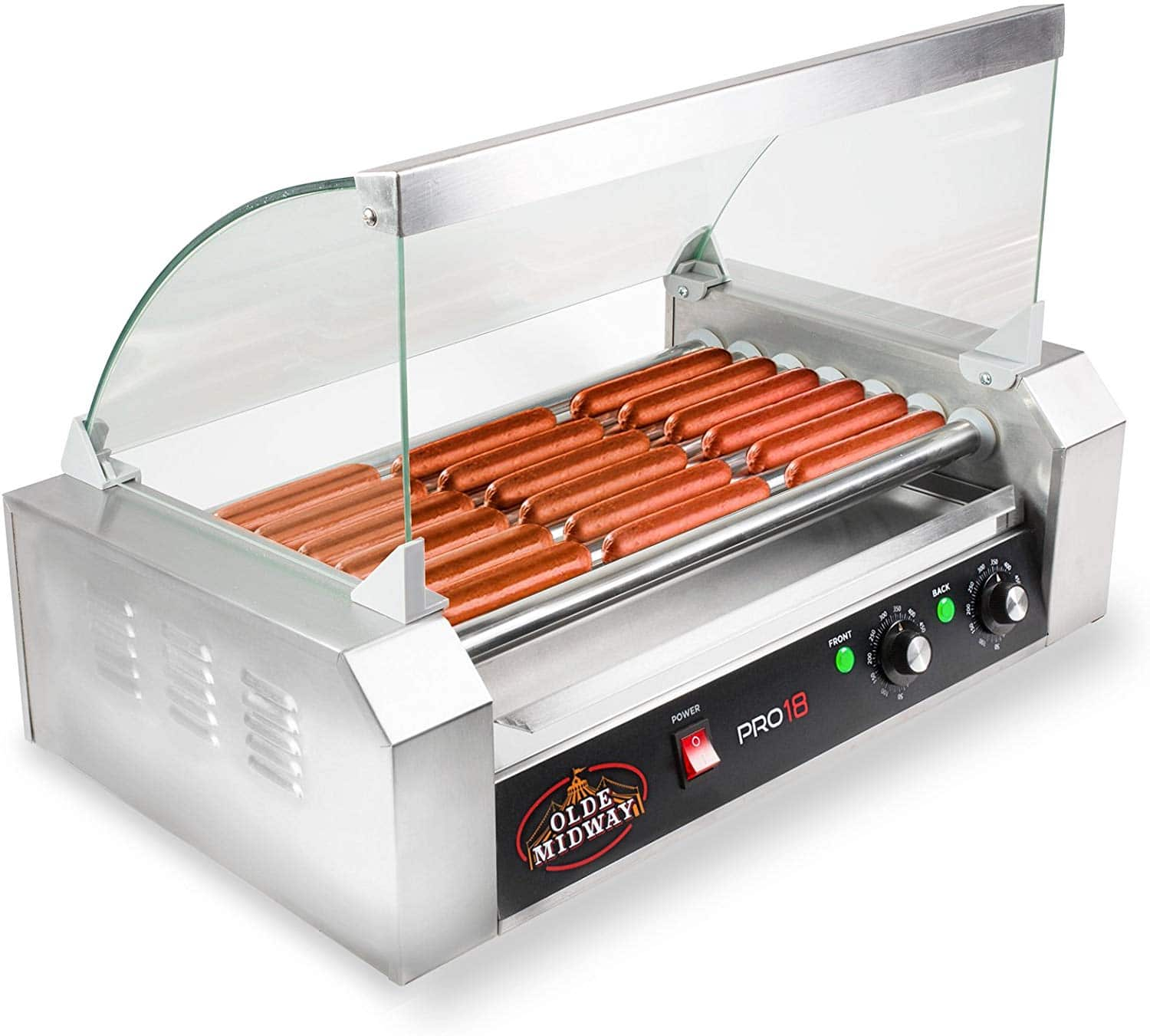 Olde Midway ROLL-PRO18-CVR Grill Cooker Machine