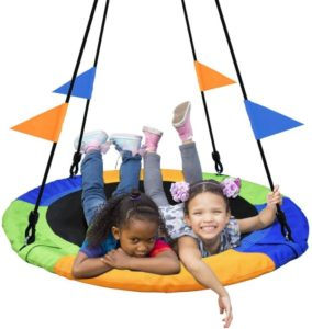 PACEARTH Wooden Swing Sets