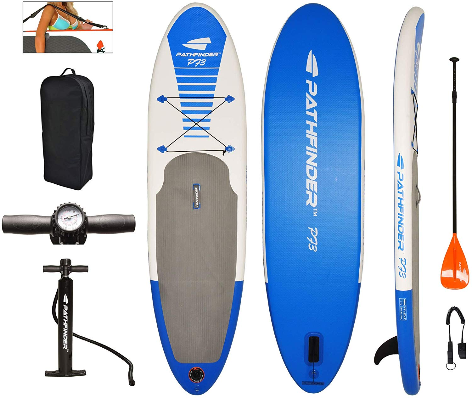 Pathfinder inflatable SUP set