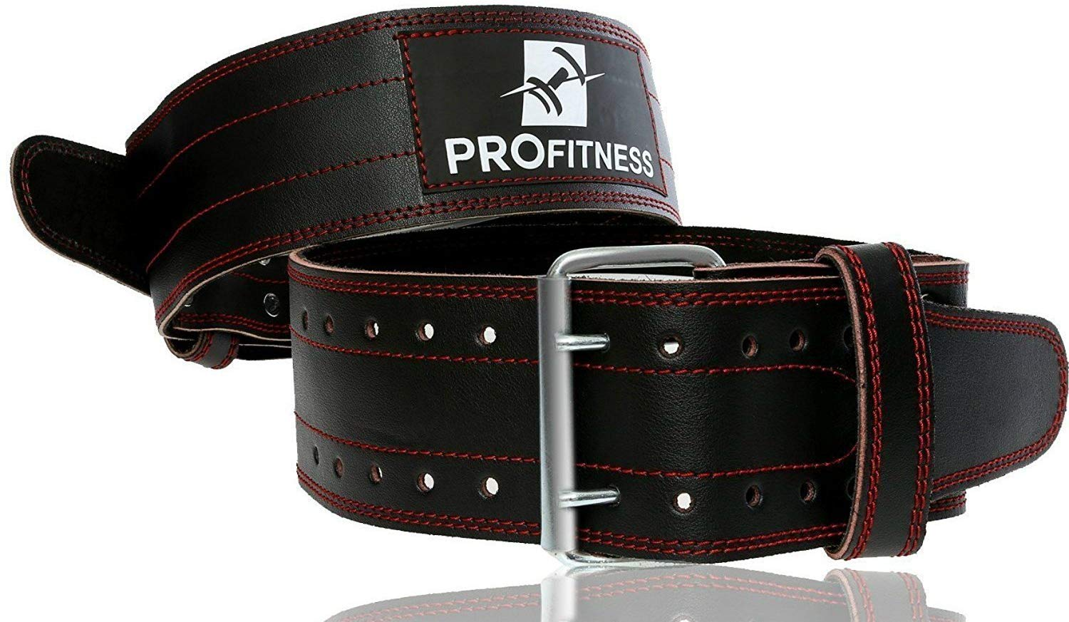 ProFitness 4 Inches Genuine Leather Workout Belt