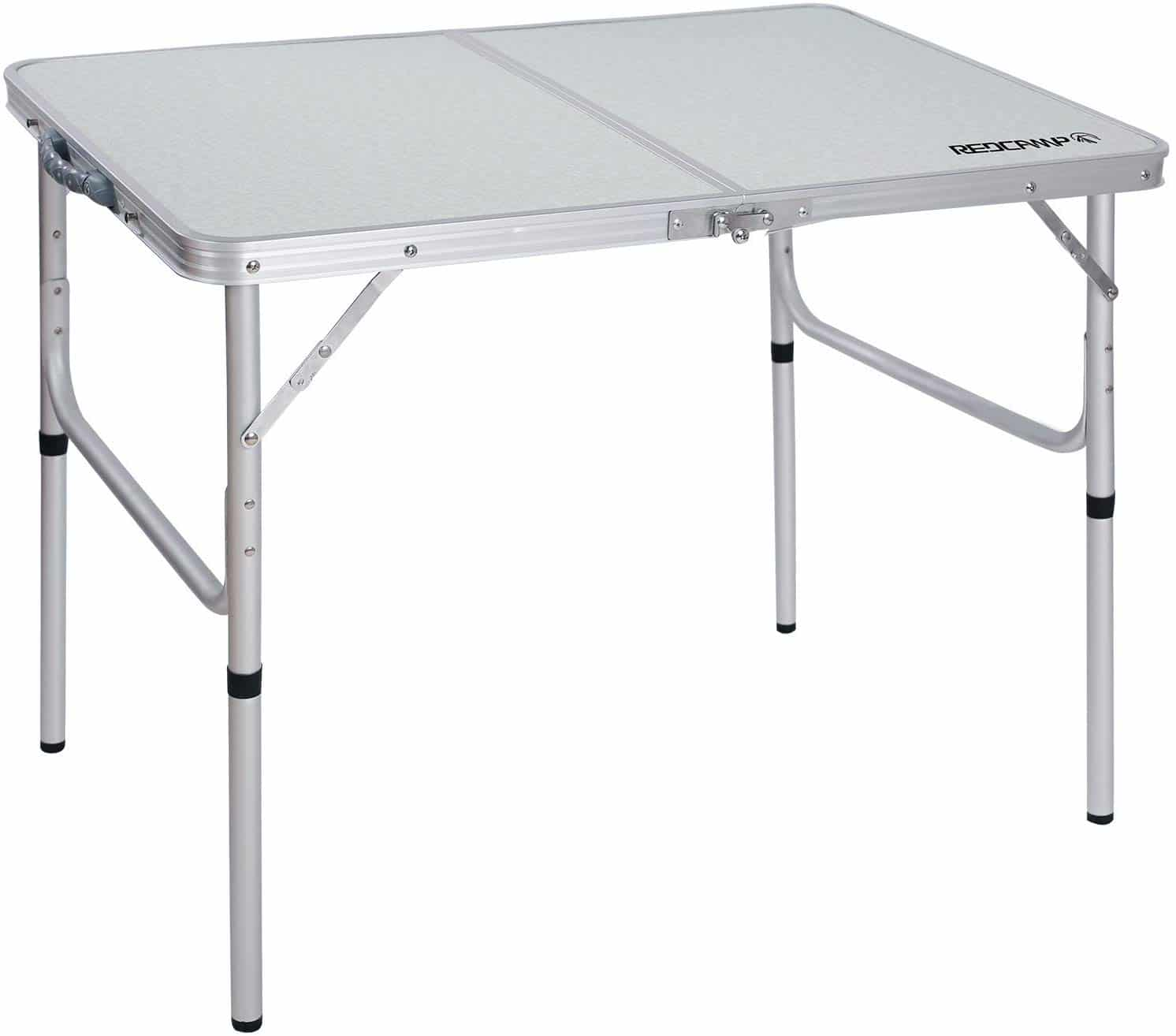 RED CAMP Adjustable Portable Camping Table