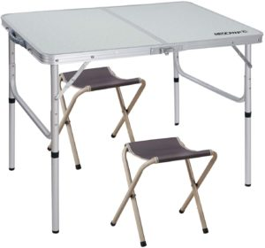 REDCAMP U-sized Folding Tables for Camping