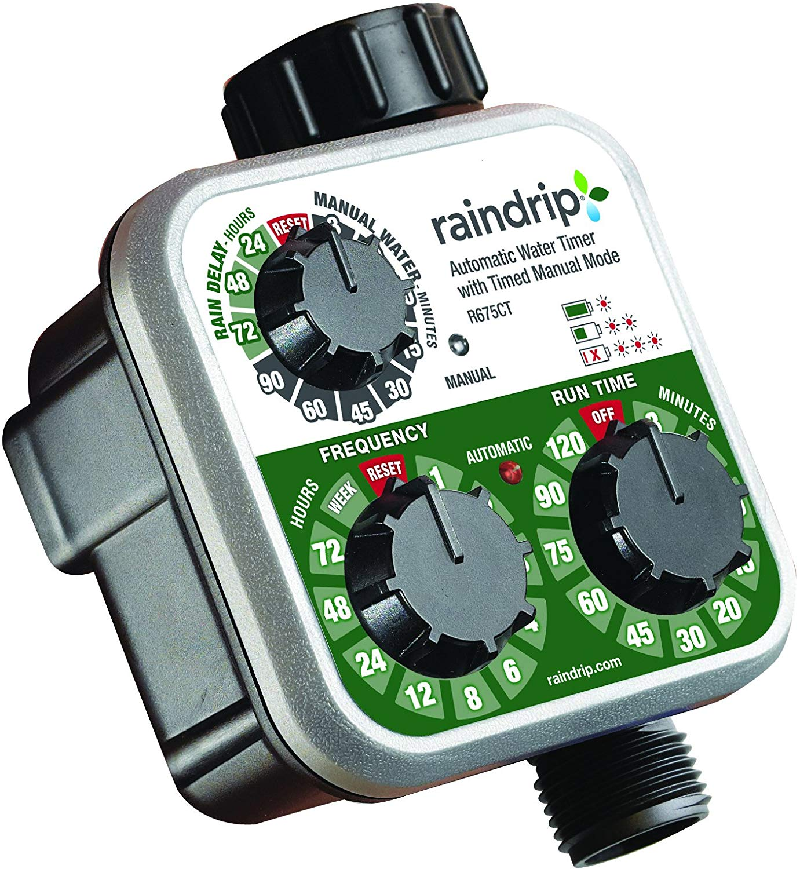 Raindrip Analog 3-Dial Water Timer