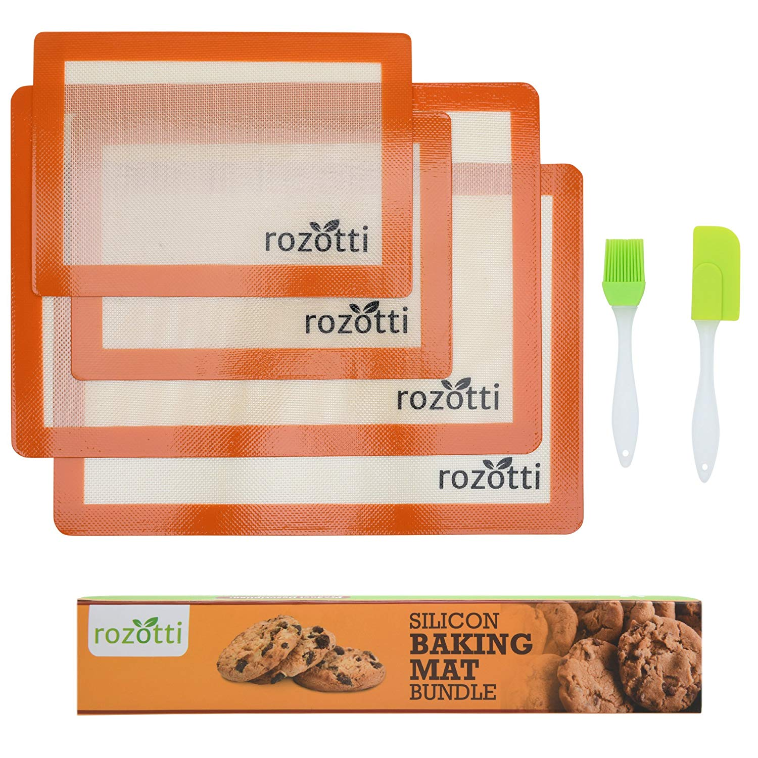Rozotti Silicone Baking Mat Bundle (6-Piece Set)