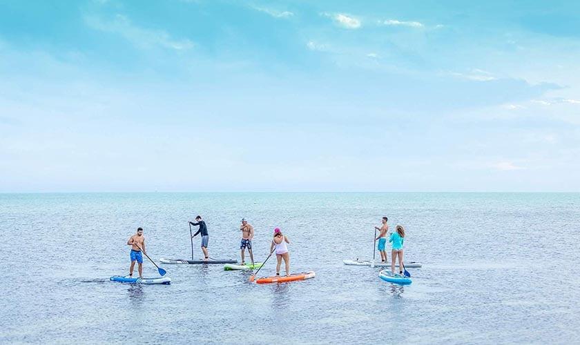 iROCKER Paddle Boards Adjustable Aluminum Paddle w//Kayak Blade