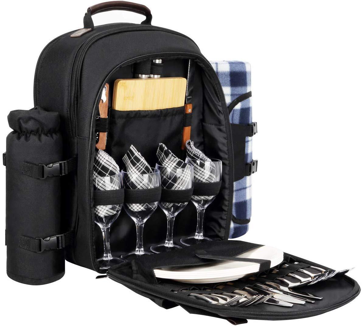 Sunflora Picnic Backpack (Black)