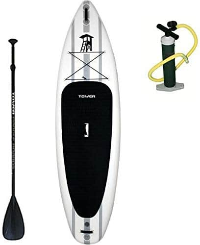 Tower inflatable standup paddle board