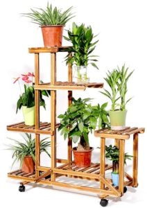 Unho Plant Solid Wood Stands for Outdoor and Indoor