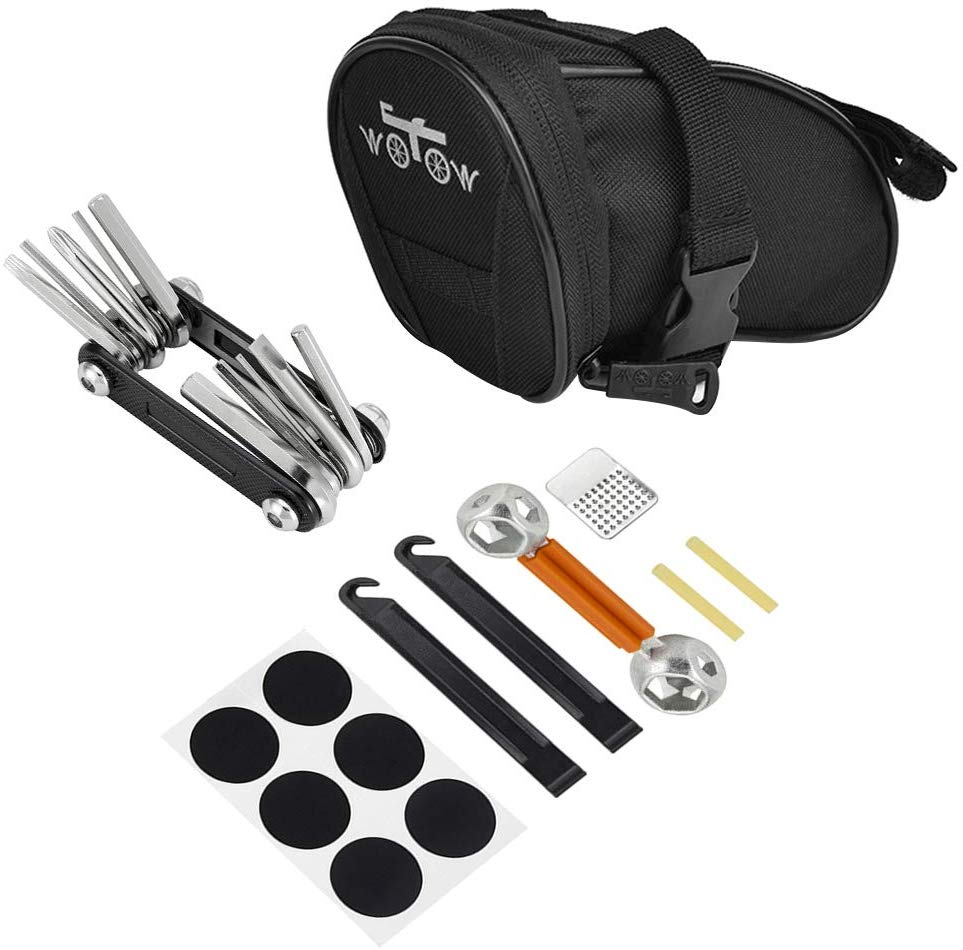 WOWTOW Bike Repair Tool Kits Saddle Bag