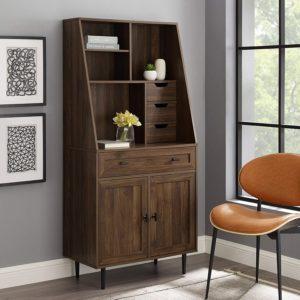 Walker Edison Furniture Company Drop-down Bookshelves for Home & Office