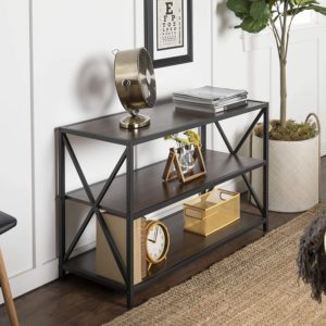 Walker Edison Furniture Company Metal MDF Bookshelves for Home