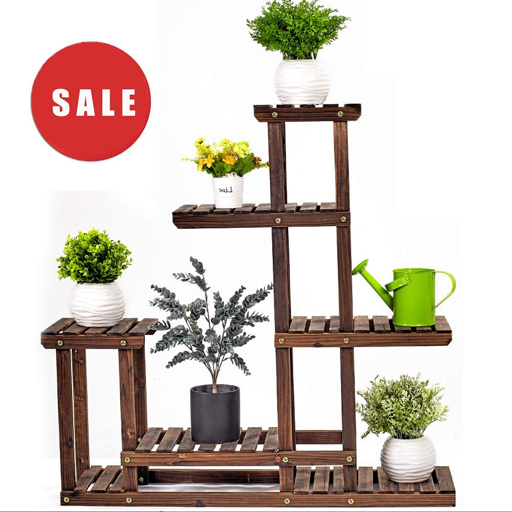 Wooden Plant Stand by AMERLIFE