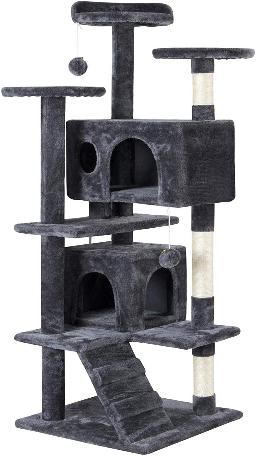 Yaheetech Cat Condo 51 Inch Playhouse