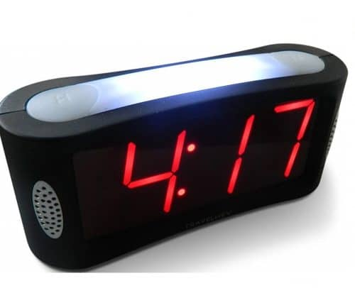 1.Home LED Digital Alarm Clock - Outlet Powered, No Frills Simple Operation, Large Night Light, Alarm,