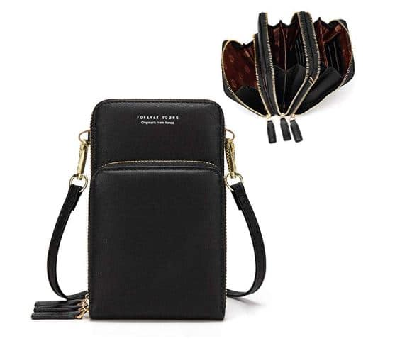 1.Small Crossbody Cell Phone Purse for Women, Mini Messenger Shoulder Bag Wallet with Credit Card Slots