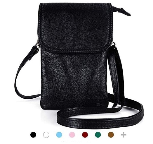 10.Cell Phone Crossbody Wallet Purse, Women Small Leather