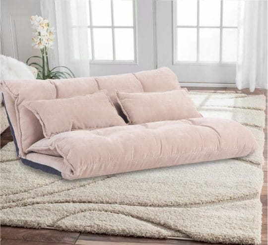 10.Floor Sofa Adjustable Lazy Sofa Bed, Foldable Mattress Futon Couch Bed with 2 Pollows