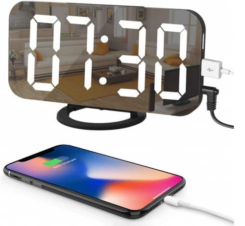 10.LED Digital Alarm Clock with Large 6.5 Easy-Read Display, Easy Snooze Function