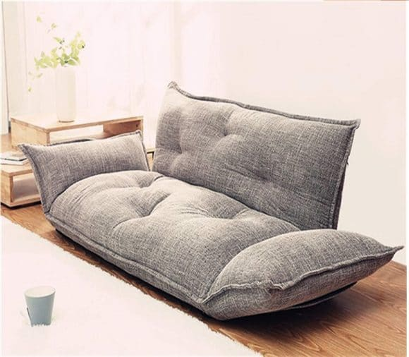 11,Modern Foldable Floor Couch Sofa Lazy Bed 5 Position Adjustable Japanese Style