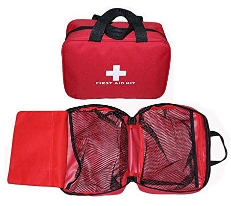 12.Small First Aid Kit Bag Empty, First Aid Bag Pouch Compact Survival Medicine Bag for Home Office