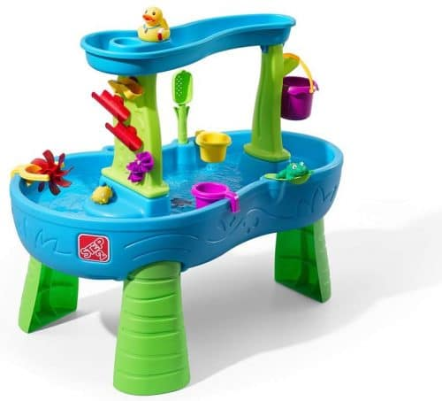 2.Rain Showers Splash Pond Water Table Kids Water Play Table with 13-Pc Accessory Set