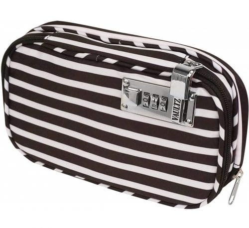 6.Locking Diabetic Medicine Soft Organizer Case, Multiple Zipper Pockets,