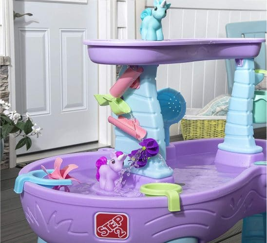 7.Rain Showers & Unicorns Water Table Kids Purple Water Play Table with 13-Pc Unicorn