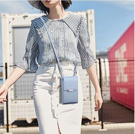 7.Small Crossbody Bag Cell Phone Purse Wallet with Credit Card Slots for Women