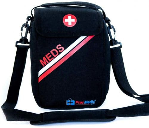 8.Bags Lockable, Insulated, Travel Medicine Bag- Holds Epipens, Auvi-Q, Asthma Inhaler & Spacer or Diabetic