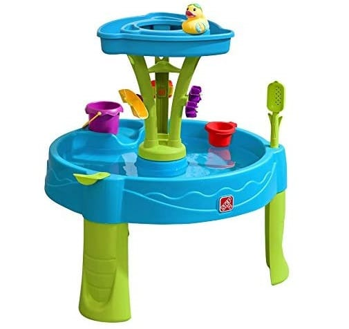 8.Summer Showers Splash Tower Water Table Kids Water Play Table with 8-Pc Accessory Set