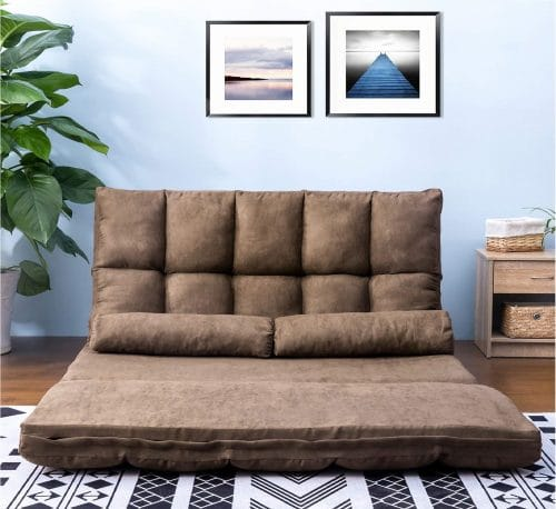 8.Thicken Floor Double Chaise, Folding Lounge SofaCouch Bed