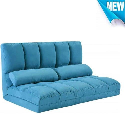 9.Foldable Floor Couch Lounge, Norcia Adjustable 45 Thicken Floor Sofa Bed