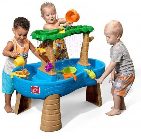 9.Step2 Tropical Rainforest Water Table Colorful Kids Water Play Table with 13-Pc Accessory Set