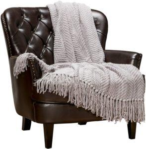 Chanasya Textured Knitted Throw Blanket